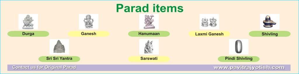 Parad items