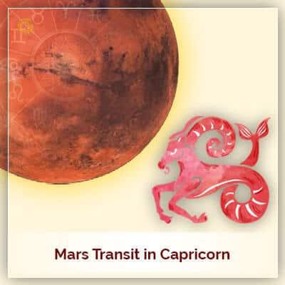 Mars Transit in Capricorn (Makar Rashi) on 2nd May 2018