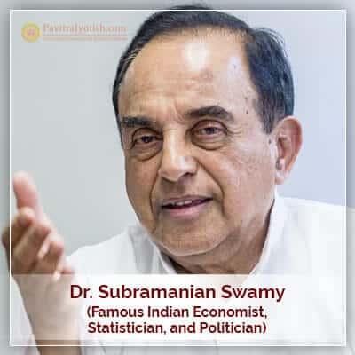 Dr Subramanian Swamy Horoscope Astrology