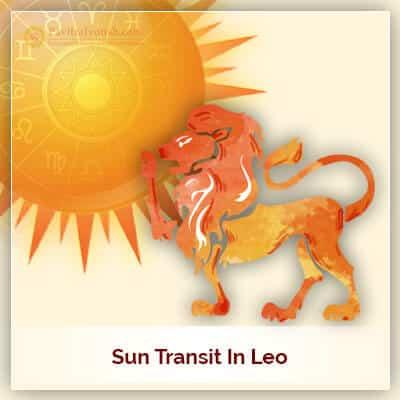 Sun Transit in Leo  (Simha Rashi) on 17th August 2018