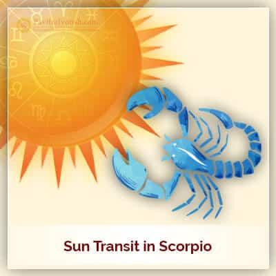 Sun Transit in Scorpio