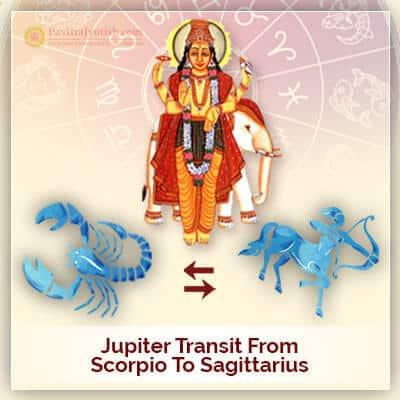 Jupiter Transit from Scorpio To Sagittarius