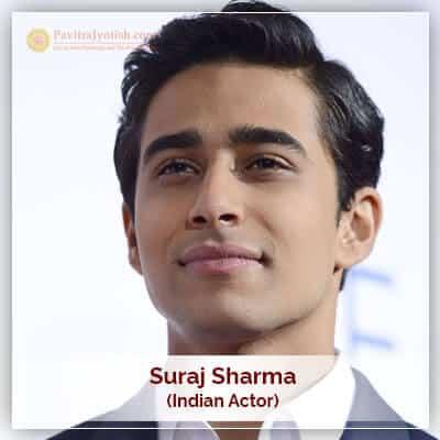 About Suraj Sharma Horoscope
