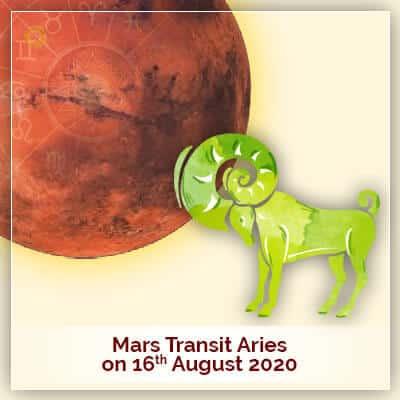 Mars Transit Aries On 16 August 2020