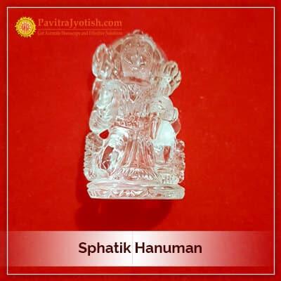 Original Sphatik Hanuman Idol