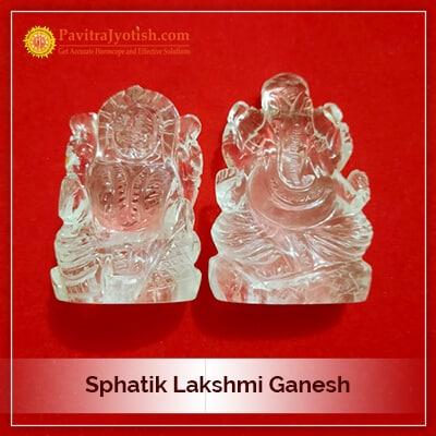 Original Sphatik Lakshmi Ganesh Idol