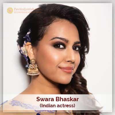 Astrological Analysis About Swara Bhaskar